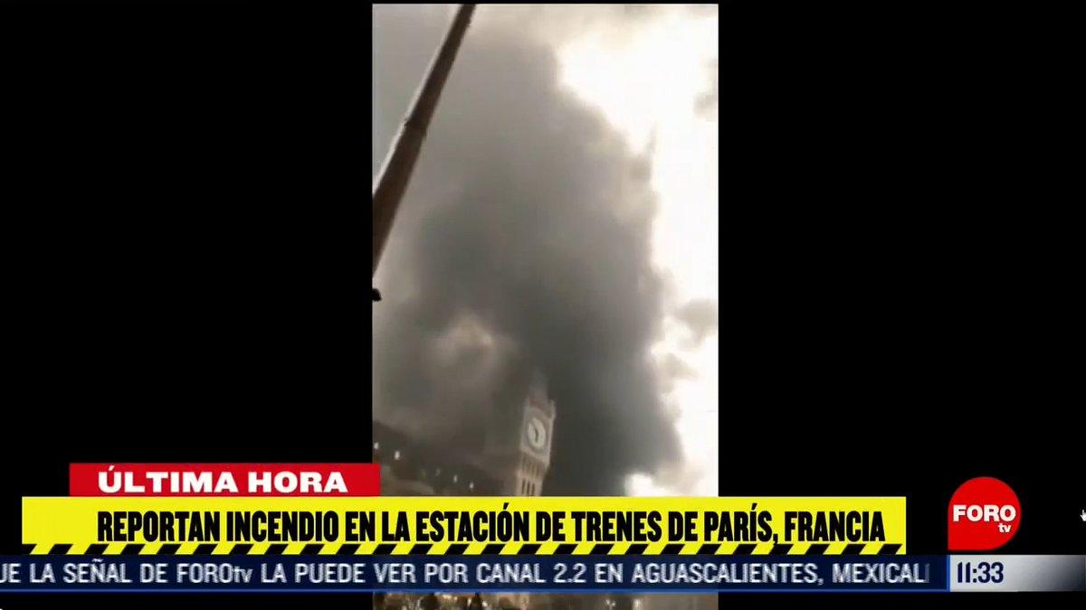 #ÚltimaHora Reportan incendio en la estación de trenes de París, Francia