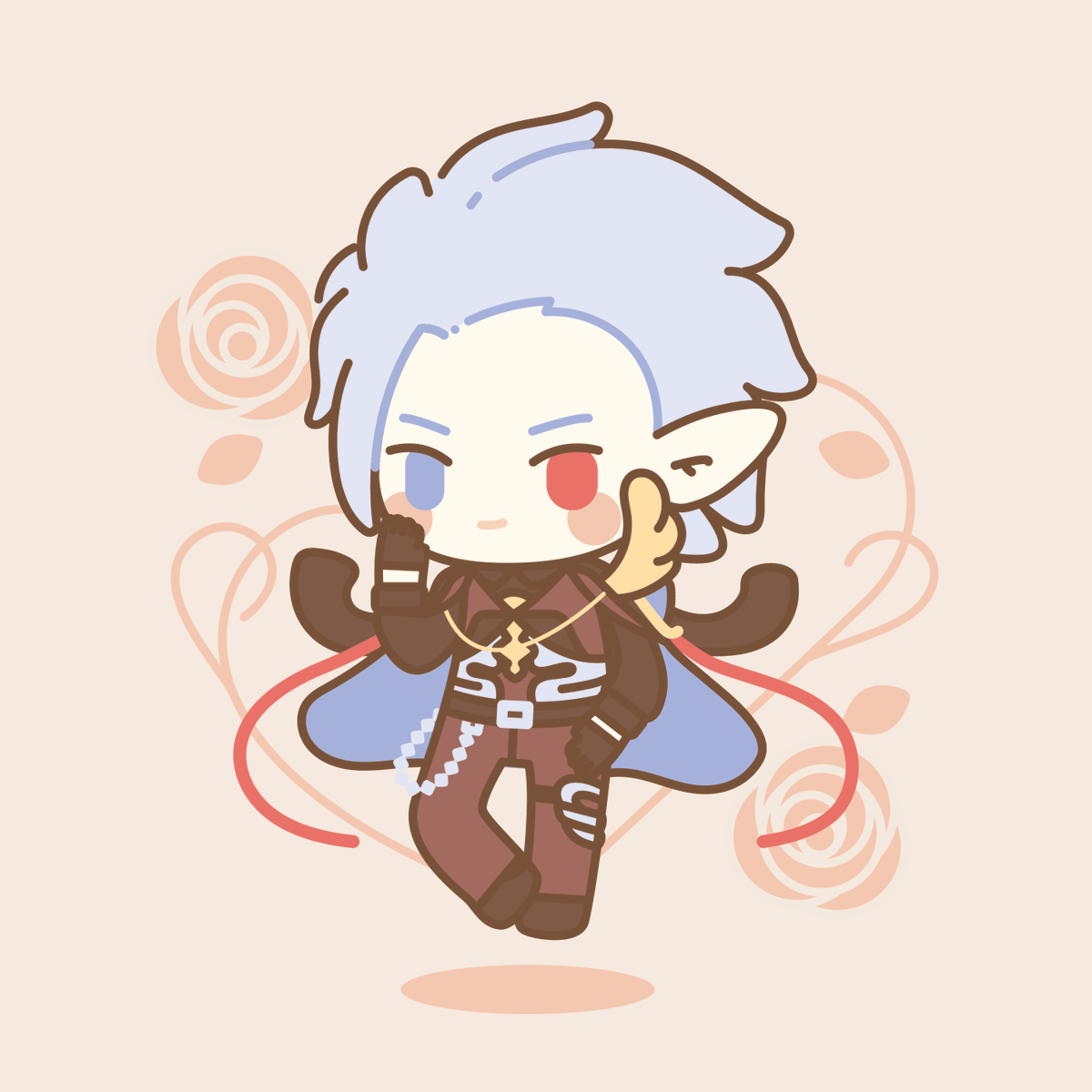 Here's a finished Valentine's Grimnir c: Been seeing a lot of art making Valentine's Grimnir look so cool, but he's actually so silly o-o  #GranblueFantasy #grimnir <br>http://pic.twitter.com/9DG69FGPjo