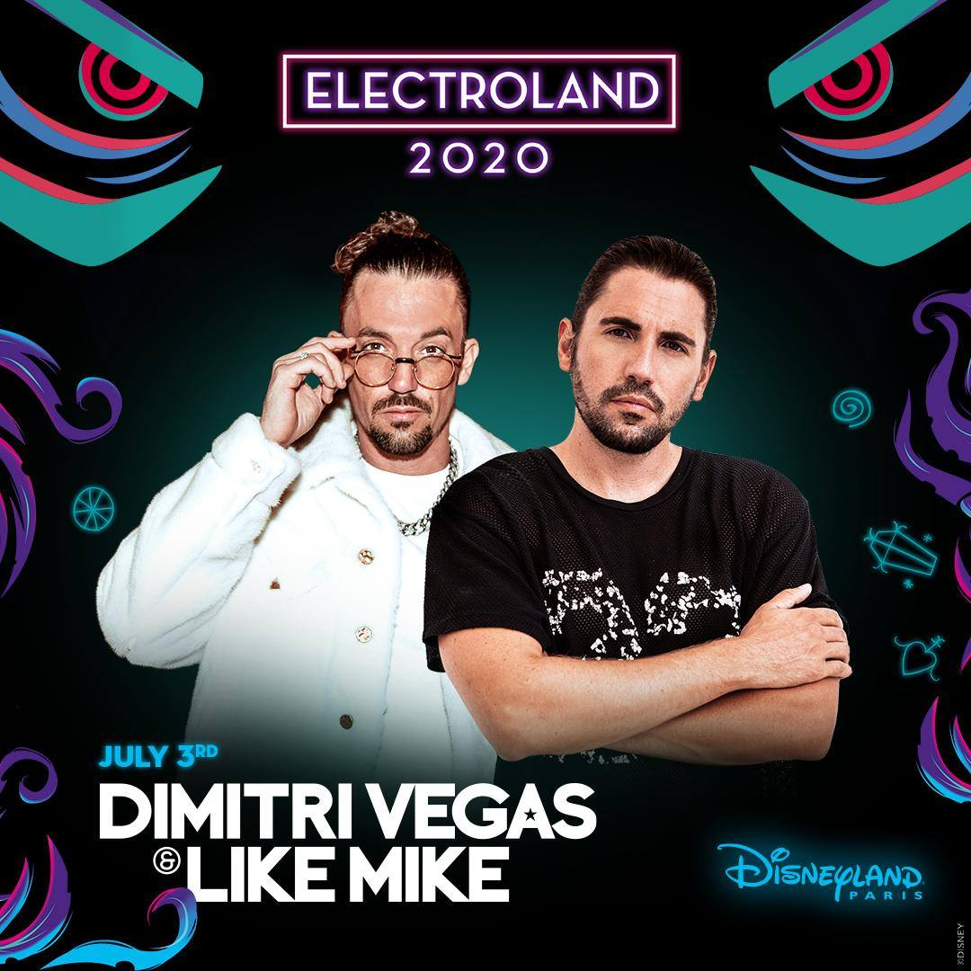 DJs @DimitriVegas and @LikeMike will headline the July 3 Electroland night at Walt Disney Studios Park:<br>http://pic.twitter.com/zz22fTeaaI