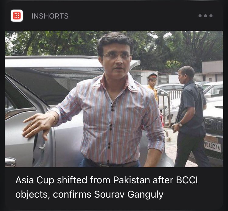 Power of Dada @SGanguly99 .. #AsiaCup shifted out of #Pakistan..  #BCCI rules #ICC @BCCI #India #indiancricketTeam #Meninblue  #inshorts #cricket <br>http://pic.twitter.com/TrRYGNTflR