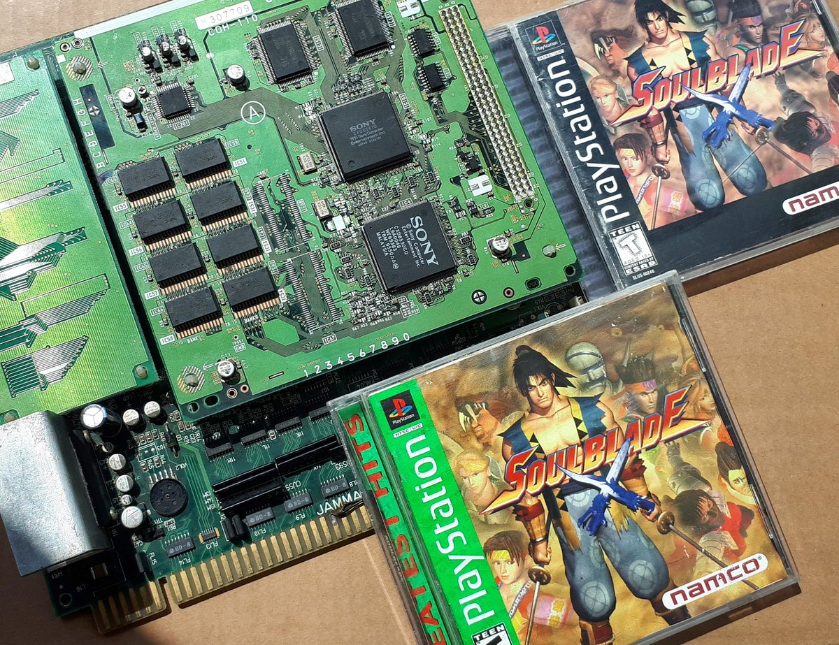 Soul Blade/Soul Edge arcade board and PS1 versions, this is where it all began for Soul Calibur series ____ #soulblade #souledge #namco #zn1 #sonyzn1 #ps1 #psx #playstation #soulcalibur #arcade #pcb #arcadepcb #arcadeclassics #arcadesmx #3dfightinggames #3d #polygons #mitsurugi