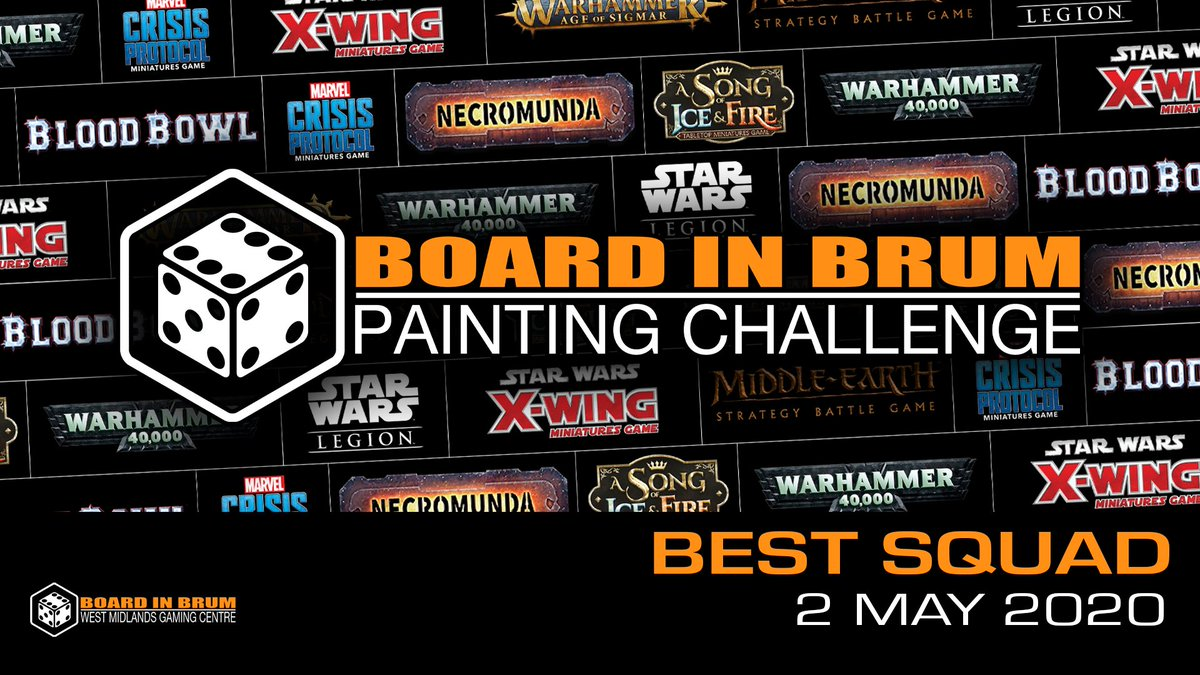 We're going to start running painting challenges. For details on how to enter head on over to our facebook page  https://www. facebook.com/events/6352989 00646249/   …  #boardinbrum #miniaturepainting<br>http://pic.twitter.com/g1gAhrgQVl