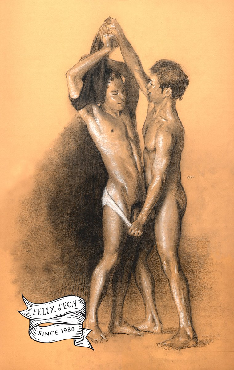 Stickypen drawings of nude homosexuals