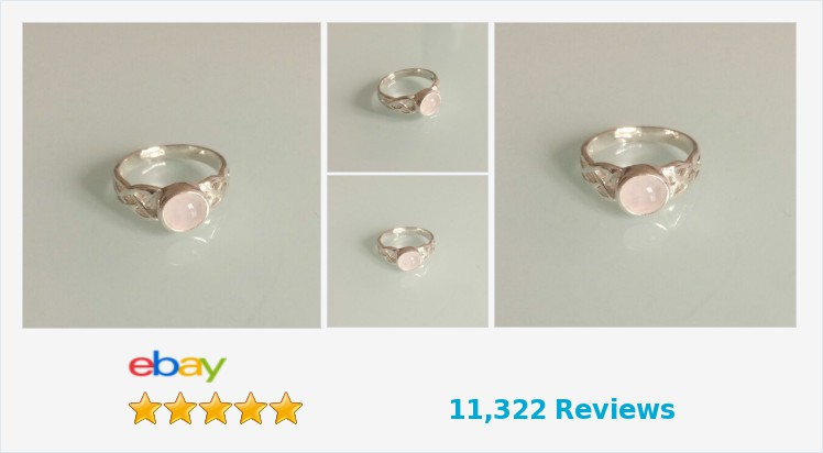 New 925 Sterling Silver Ladies Celtic Ring set with a 6mm Rose Quartz sizes J-R | eBay #sterlingsilver #celtic #ring #rose #rosequartz #pink #handmade #jewellery #gifts #giftshop #giftideas #accessories #fashion #beauty #jewelry #jewelrylover #pretty