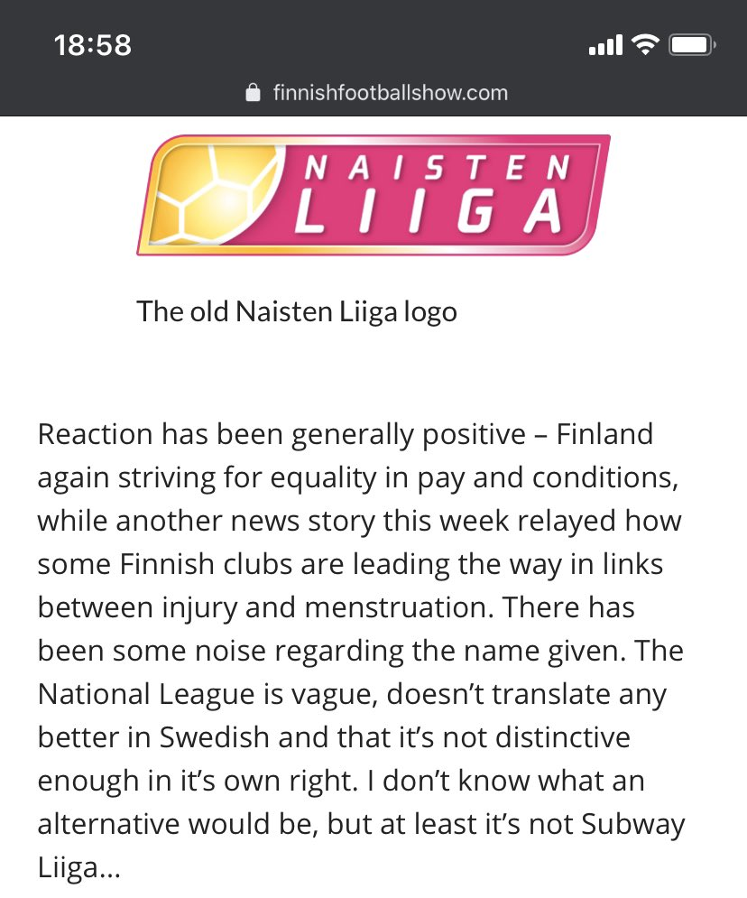 Never thought I'd write about menstruation in a Finnish football article - progress pic.twitter.com/Z5FwsWd3ms