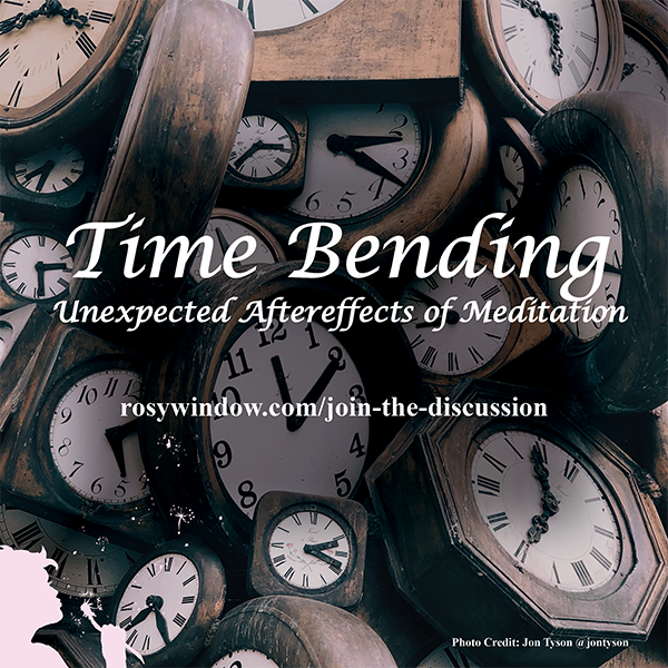 Article on one of the coolest consequences of meditation, along with some tips and tricks to get started and stick with it!  https://www.rosywindow.com/join-the-discussion/time-bending-unexpected-aftereffects-of-meditation…  #meditate #meditation #healthykids #momoftoddlers #moretime #mindset #clarity #anxiety #stress #presence #success #goalspic.twitter.com/JieuTFpEM3