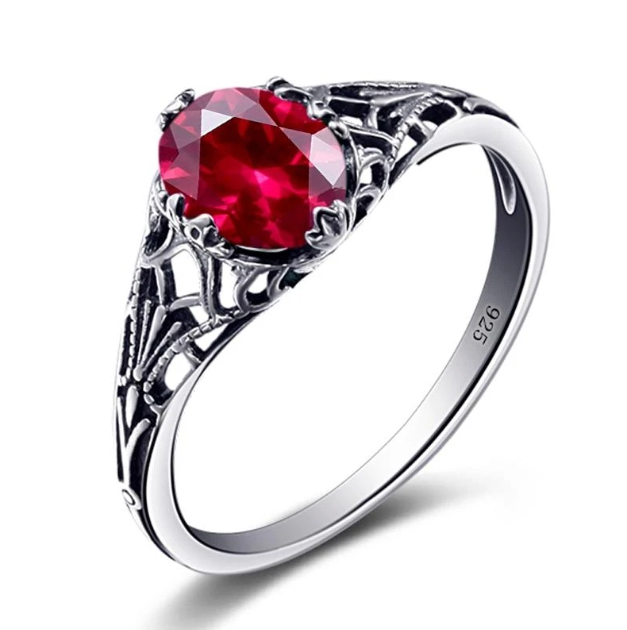 Charms Handmade Created Ruby Stone Ring Real 925 Sterling Silver Vintage Rings For Women Rose Jewelry  #rubyring #vintagerubyrings #jewelry #fashion #beautiful #cute #girl #girls #style #beauty #amazing #pretty #follow  Current Price: $43.99 USD  Buy Now: