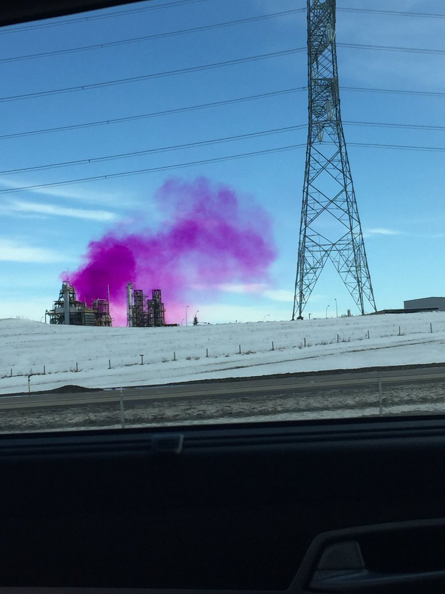 What are these purple clouds that I am breathing.... #Yeg #anthonyhenday
