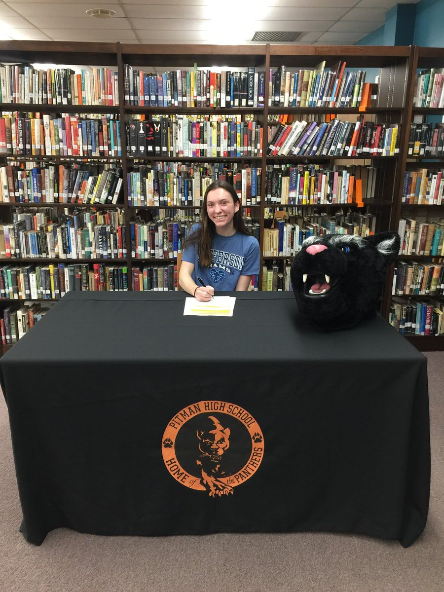 Congratulations to Sarah Brennan on signing her Letter of Intent today to continue her running career at Thomas Jefferson University. Sarah has been a key member of the XC, Winter Track and Spring Track and Field teams over the last 4 years, we wish her the best! <br>http://pic.twitter.com/kcLJrrryS5 – à Pitman High School