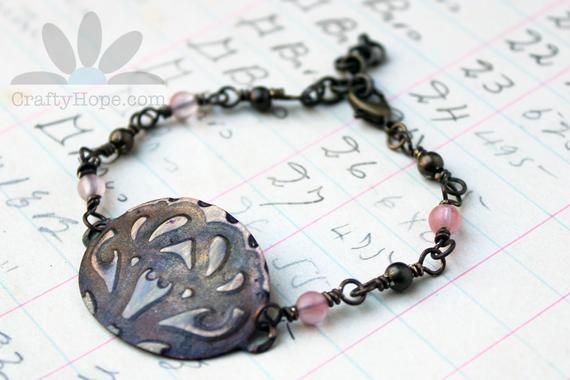 This Vintage Romance Bracelet is a little of everything: pretty, delicate, steampunk, grungy, feminine, and just plain awesome. Get a better look on Etsy before it's gone.  #handmadejewelry #etsyjewelry #pretty