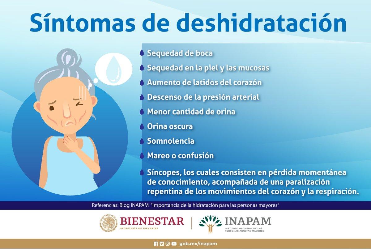 sintomas de deshidratacion en personas mayores