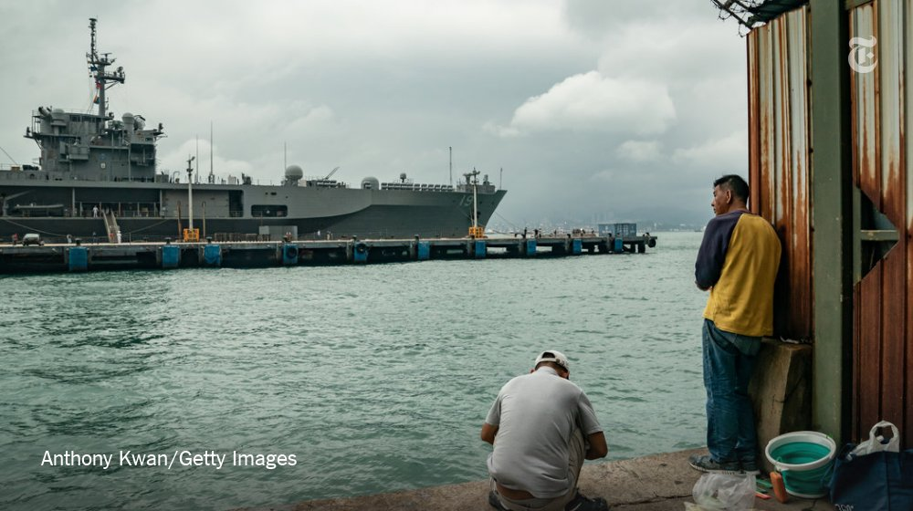 The U.S. Navy on Friday ordered all ships that have made stops in the Pacific — about 30 to 40 vessels holding several thousand sailors and Marines — to self-quarantine at sea for 14 days https://nyti.ms/2Pvkwcf