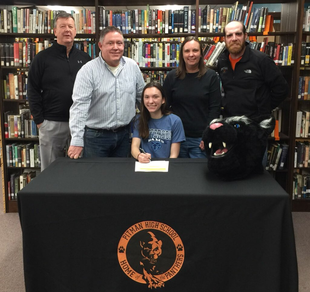 Congratulations to Sarah Brennan on signing a letter of intent to attend Jefferson University in the fall and run Division II NCAA track! #pitmanpantherpride<br>http://pic.twitter.com/0m8iXlQSUj