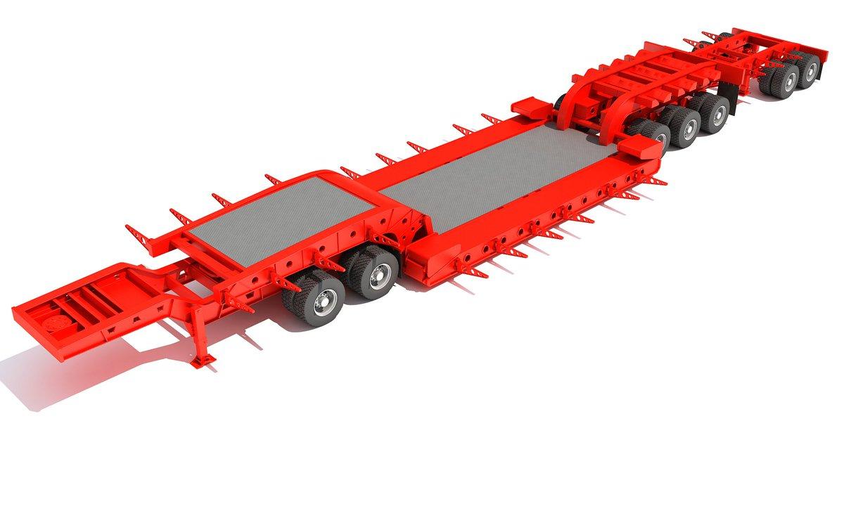Heavy Haul Lowboy Trailer #lowboy #double #drop #tri #axle #trailer #flatbed #chassis #industry #Semi #truck #vehicle #semitruck #semitrailer #heavy #transport #box #industrial #crane #low #boy #3d #3dmodels #modeling #3dsmax #3dmodel