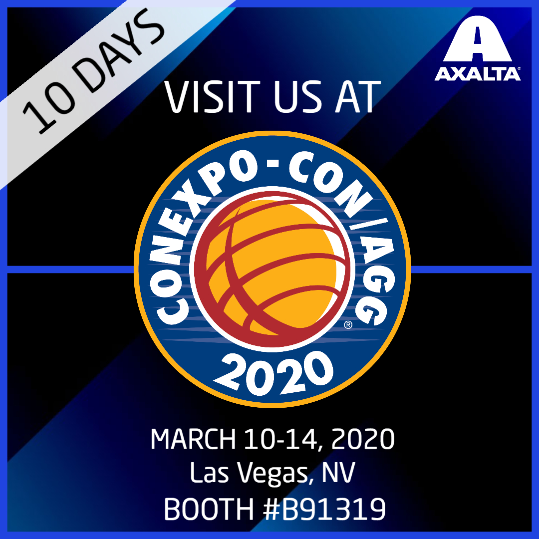 10 days until the largest construction trade show in North America  #CONEXPO #CONAGG.  Stop by booth #B91319 to learn more about our industrial coatings. https://t.co/vjOYF9ZH8A