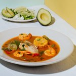 Image for the Tweet beginning: Try our healthy Seafood Soup,