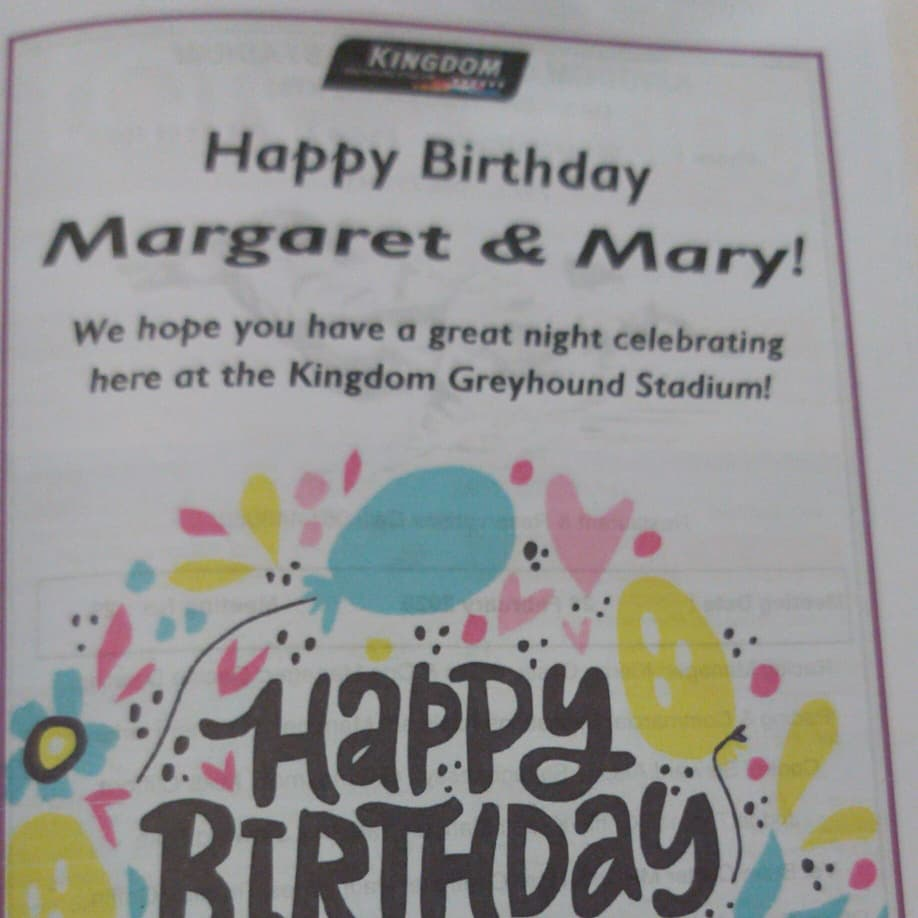 The Icing On The Cake!! #DoubleBirthdayCelebrations Thank you all in @KingdomDogTrack & #IGB A great night out.  #HighlyRecommended #PartyNights  Could do with some winners<br>http://pic.twitter.com/piUXttzfyC