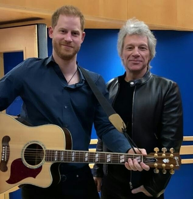 #Prince Harry  #Jon Bon Jovi Abbey Road Studios London England 28th February 2020