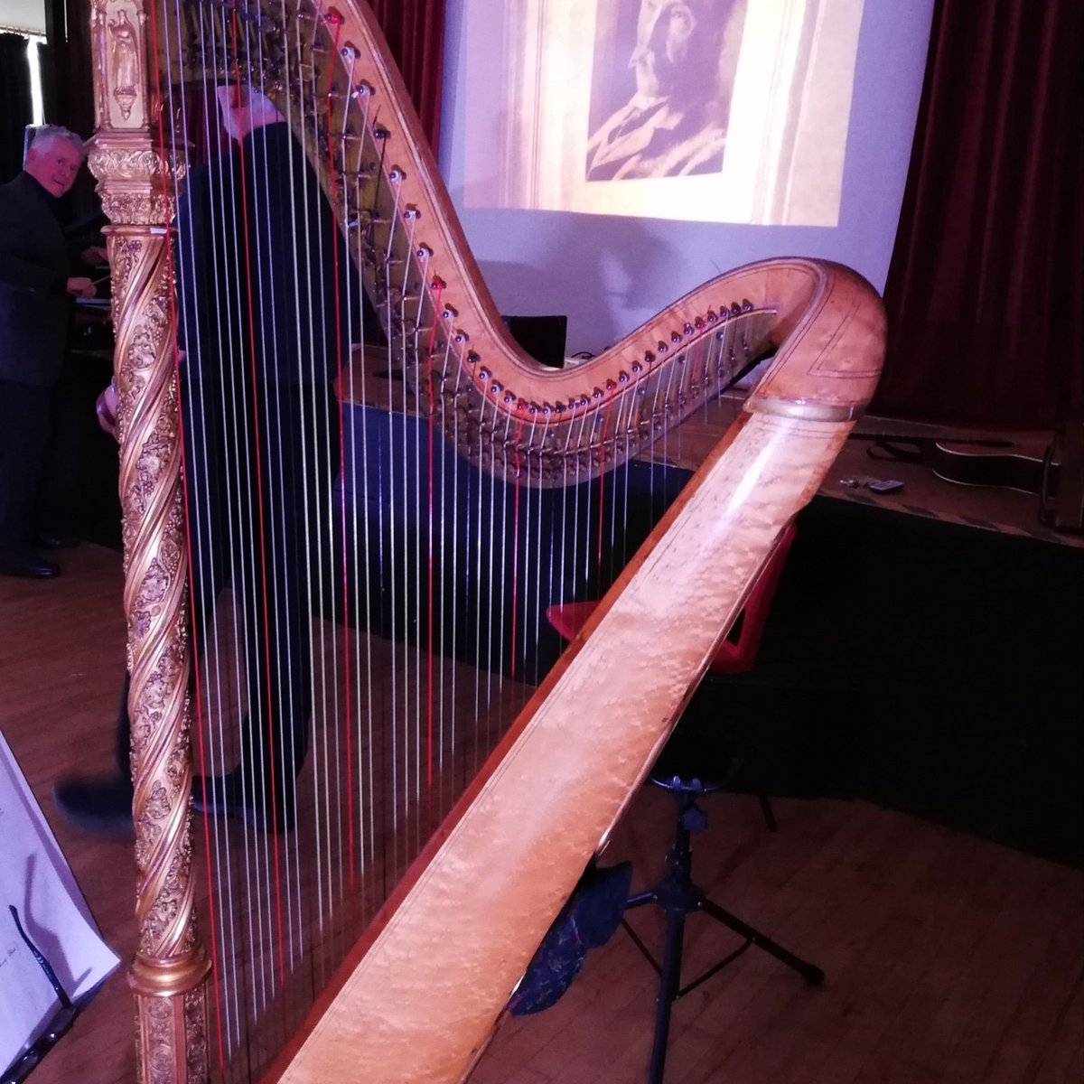 Hatch Beauchamp today, next week Wyvern will be performing 'Words take Wing' at Otterham village hall Cornwall on March 7th at 8pm - A #folk #drama with #traditional #music & #song based on the journals of Thomas Hardy. #harp #folksong #folkmusic  @ThomasHardy21 @ThomasHardyPoet