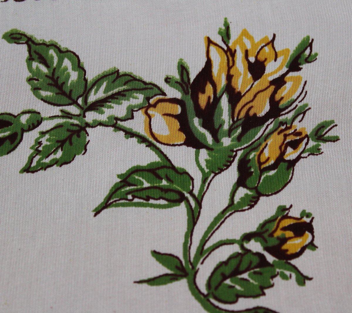 Vintage Floral Hankie, Yellow Rose Handkerchief, Flowers, White, Green, Brown, Mid Century Modern, Women's Vintage Apparel Rolled Edge Retro http://tuppu.net/346144c #Etsy #ImagineQuiltsAndMore #FloralHankiepic.twitter.com/Jwpc9d4QoP
