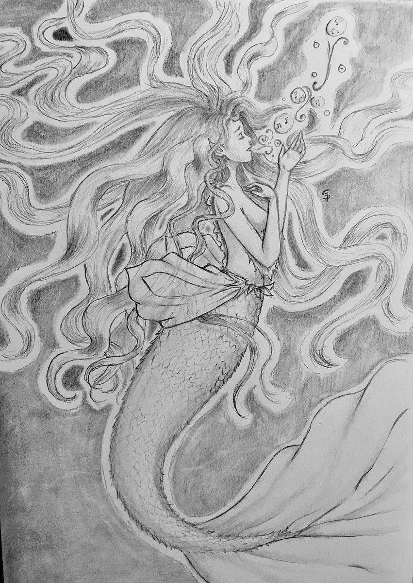 Siren's call...  #drawimg #dibujo #Mermaid #jizerulivna #pencil #blackandwhite #song