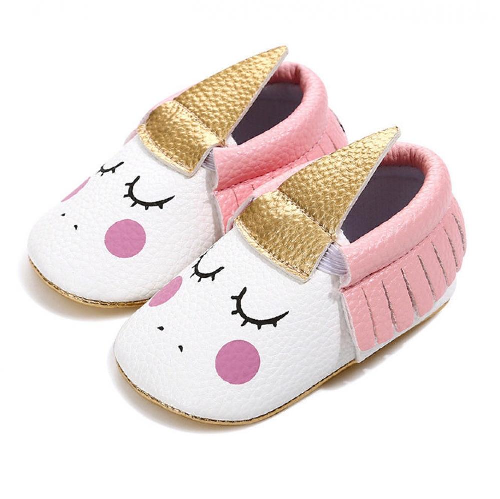 #ootd #beauty Cute Unicorn Design Slip-On Baby Girl's Shoes
