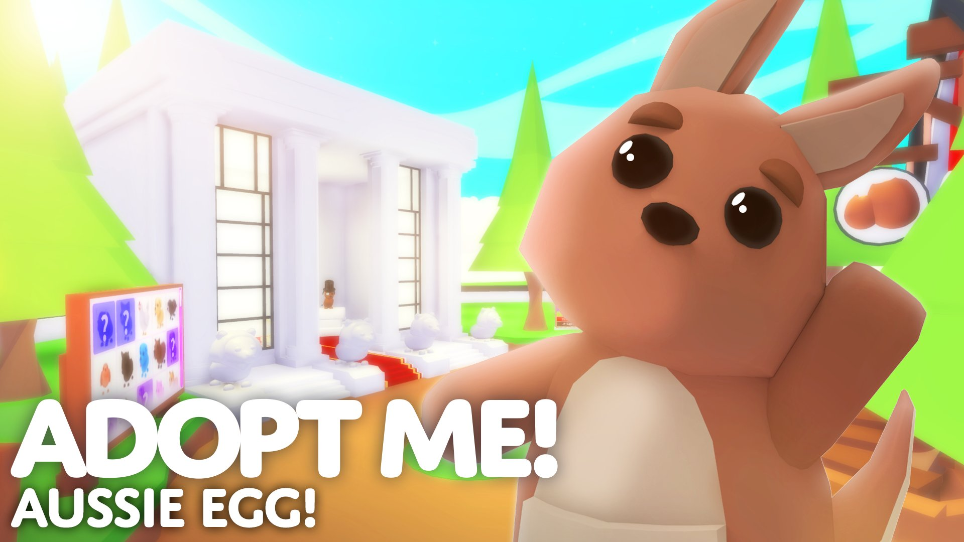 Cool Backgrounds Roblox Adopt Me Adopt Me On Twitter Aussie Egg Update Get The New Egg From The Gumball Machine And Hatch 1 Of 8 New Pets Play Now Https T Co Q5ew48c02n Https T Co Mmgkzjwib2