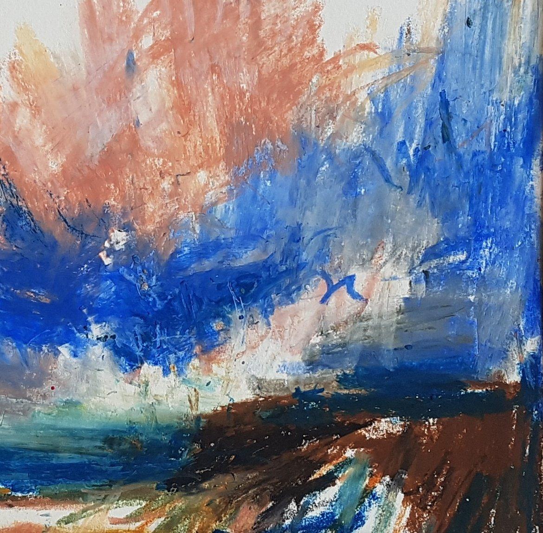 Quick oil pastel sketch.  #art #landfebruary #coast #oilpastel #sketchbook #sketch #artwork #oilonpaperpic.twitter.com/I3TlVu6y2t