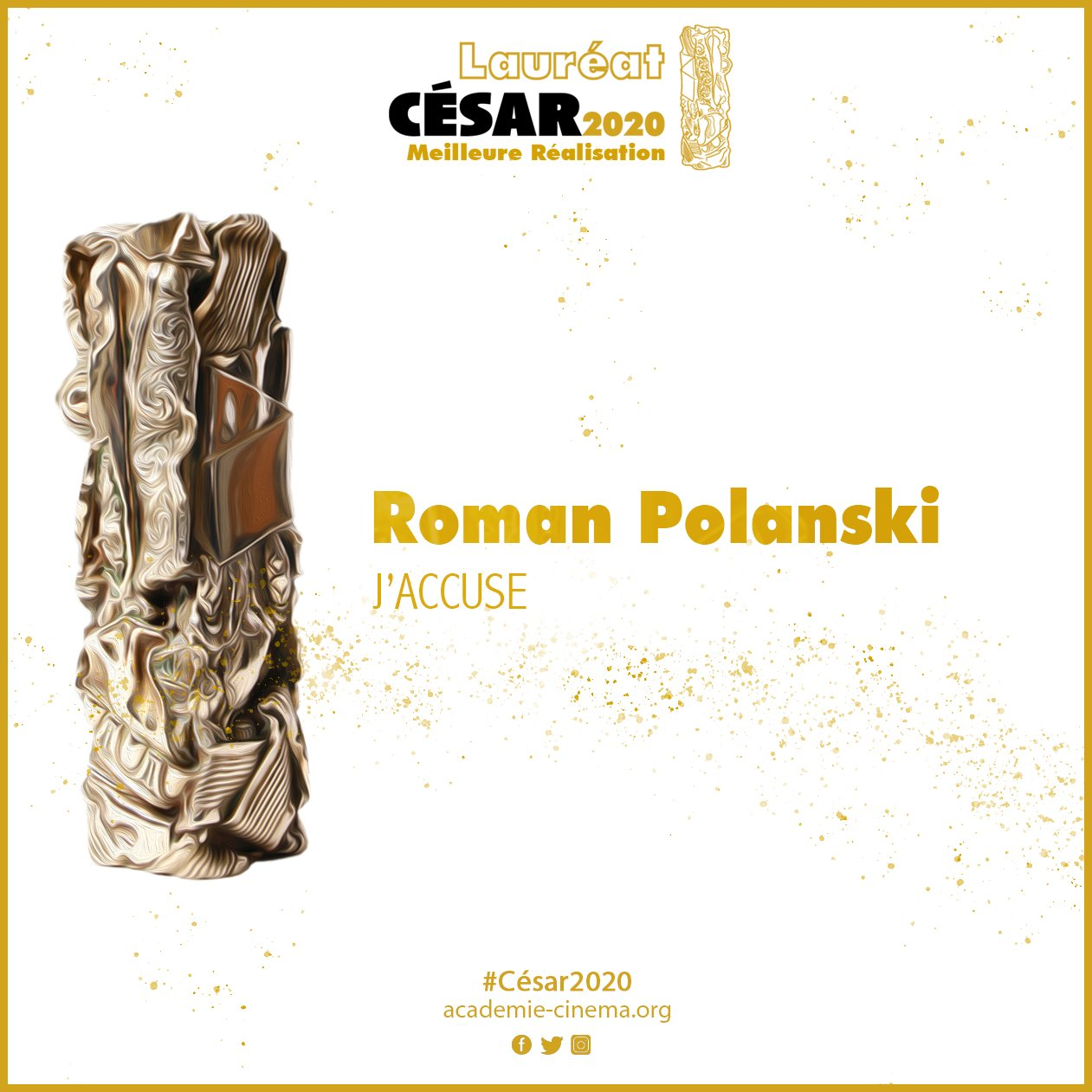 César 2020: vince I miserabili, Roman Polanski miglior regista
