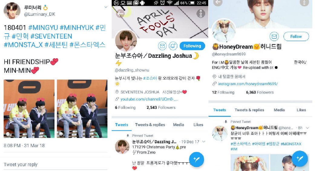 When Carats and Monbebes went all out for april fools day, switching fansites, fanpages, subbing teams (not pictured) and vlive boards all for 24 hours #MonCaratAprilFoolDaypic.twitter.com/24e7Dlz2fW