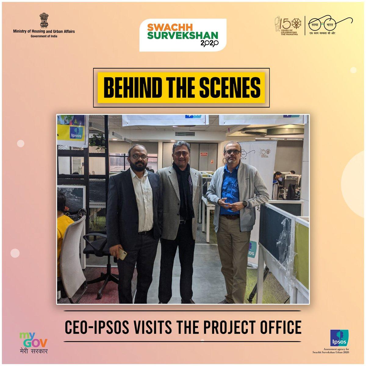 Take a peak #BehindTheScenes of #SwachhSurvekshan2020.  Mr Amit Adarkar, CEO of Ipsos - the assessment agency for Swachh Survekshan 2020,   #SwachhBharat #BTS https://t.co/KSeKUe8m3Z