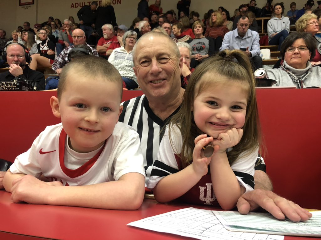 RCHS Lion Basketball:  The Lions are taking on the North Decatur Chargers tonight in Memorial Gym. Steve Johnson getting some help at the scorer's table.