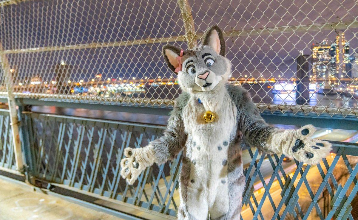 RT @Whiskers_Kitteh: Crossing the Manhattan Bridge  #FursuitFriday   📷: @ChatahSpots https://t.co/zY3HLeJat0