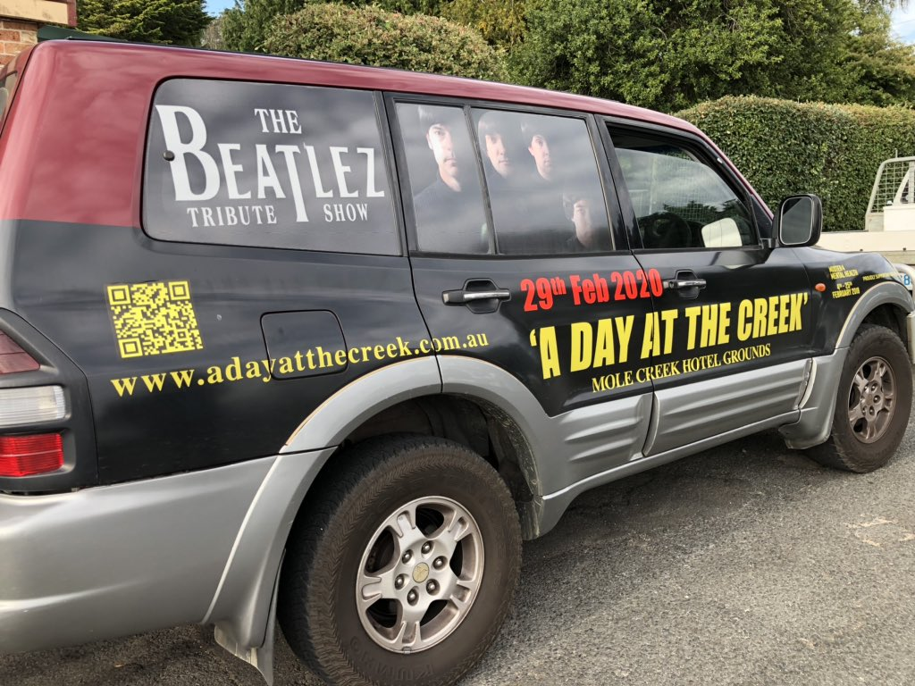It all starts this afternoon at Mole Creek in Tasmania.  Our show starts at 3.30 pm so come down and enjoy some 'fab' 60s music!  #beatles #thebeatles #band #music #tasmania #car #drive #drivemycar #festival #saturday #today #adayatthecreek #february #fab #fabfour #rocknrollpic.twitter.com/YpncTUQfXV