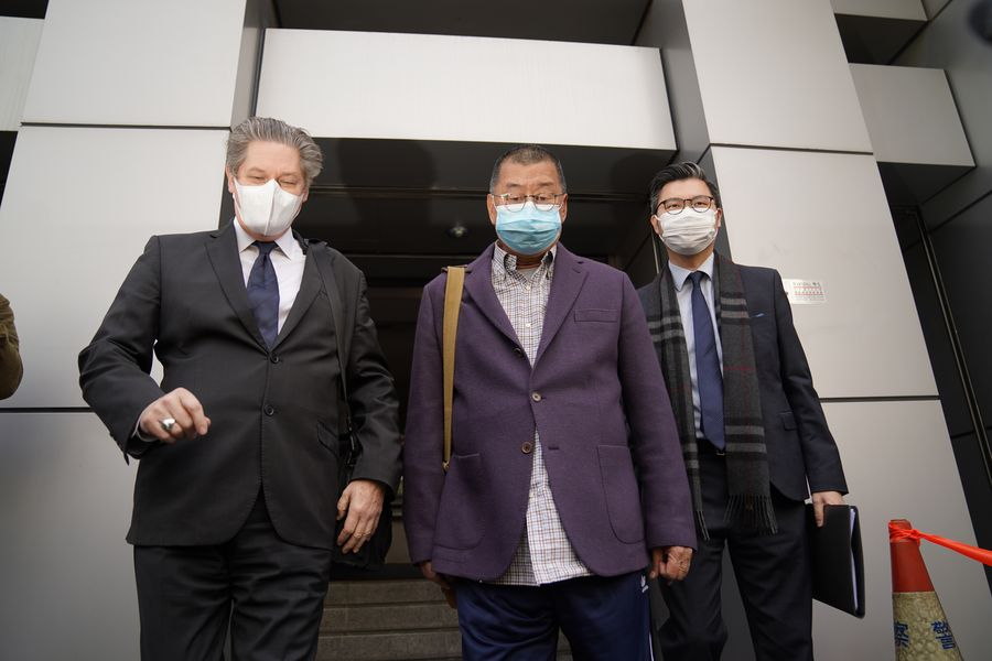 """Jimmy Lai Chee-ying, one of the """"black hands"""" behind the months-long unrest in Hong Kong, was arrested Friday. Anyone who challenges the rule of law and attempts to mess up Hong Kong will ultimately be brought to justice http://xhne.ws/xF9S2"""