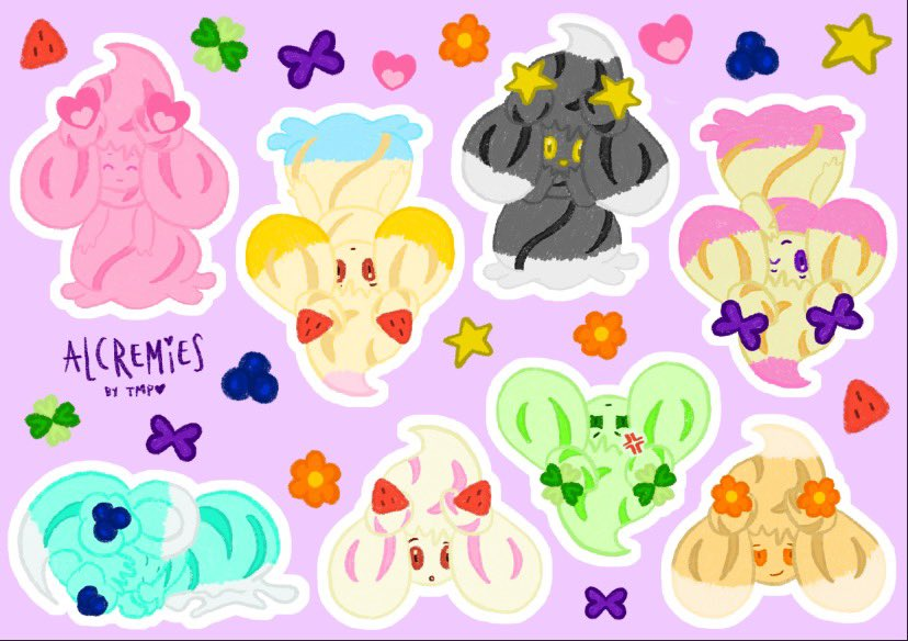 tomorrow is the last day to pledge for these goodies on my patreon  sticker sheet will be $8 instead of $6 outside of patreon.   https://www.patreon.com/themonsturplaza  #alcremie #pokemon #pokemonswsh #swsh #loona #chuupic.twitter.com/b9i8NkteZh