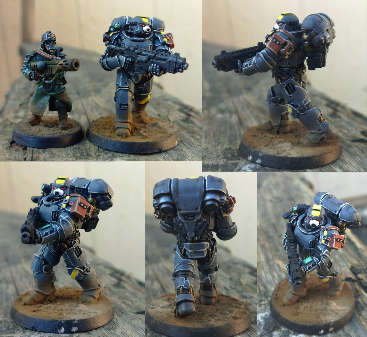 I also bought a knock-off 3rd party Space Marine and this shit is actually GREAT, I bought it specifically because it was TRUE-SCALE™. I just wish I didn't get the tacticool pauldrons, they're a little too busy lmao. pic.twitter.com/JH5hDllW9L