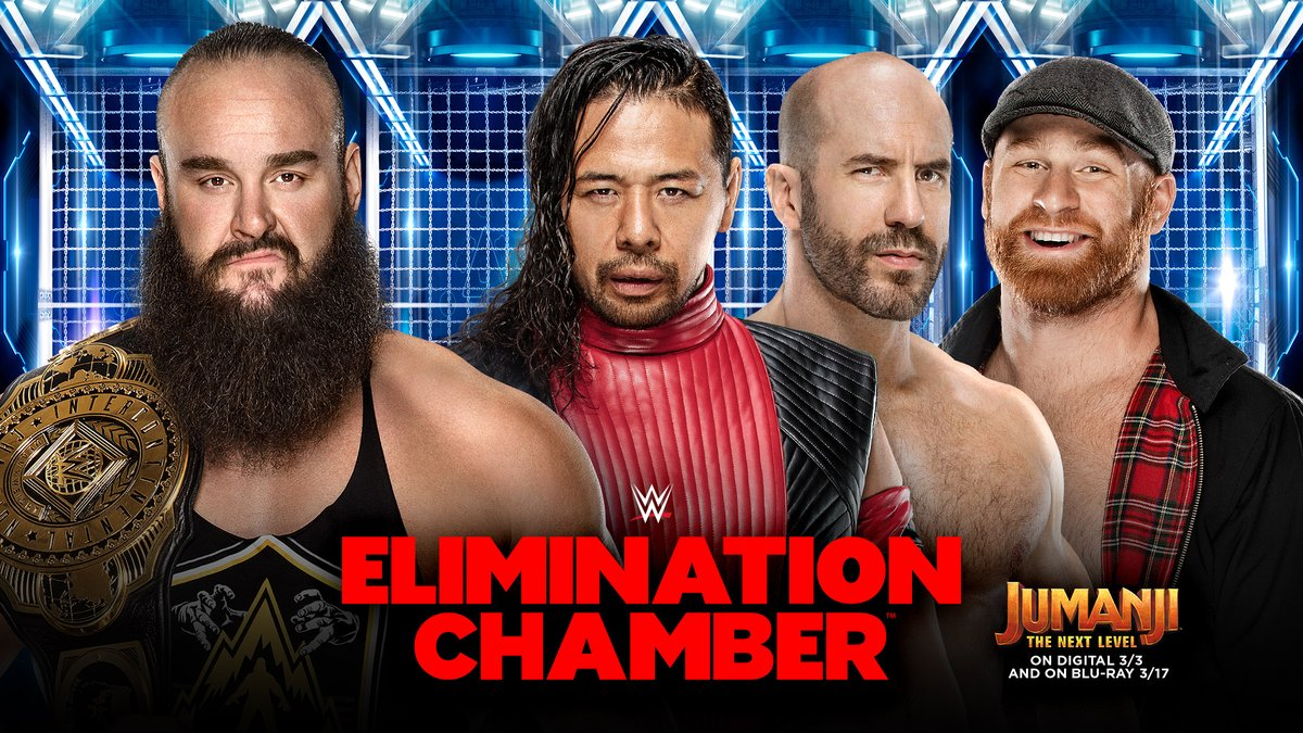 .@BraunStrowman will have the odds stacked against him as he defends his #ICTitle against @ShinsukeN @WWECesaro & @SamiZayn at #WWEChamber! https://bit.ly/387VRRF