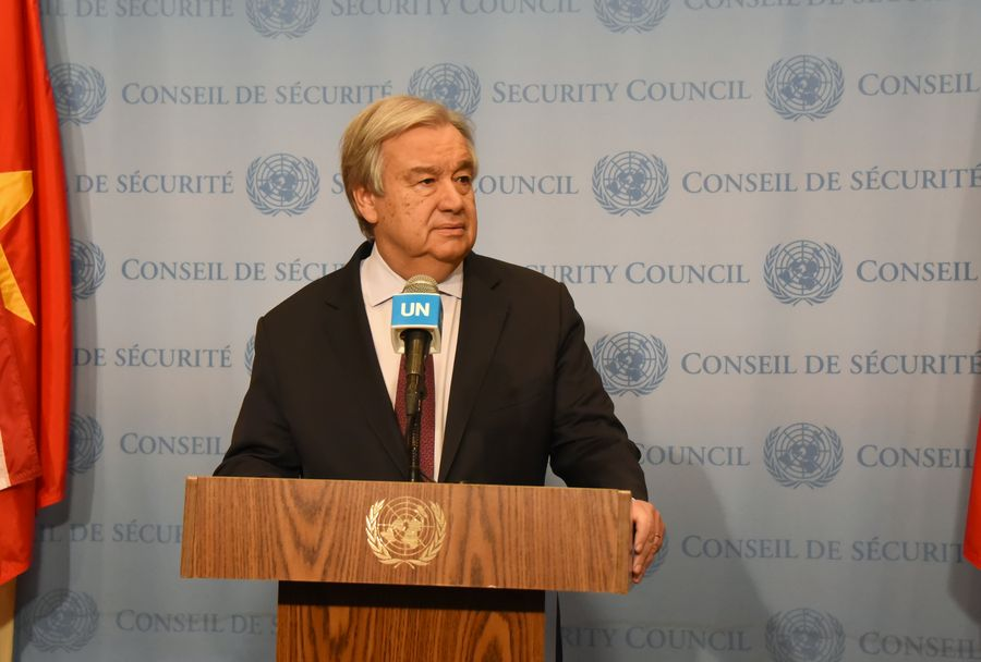 """UN chief calls for intensified efforts to contain #COVID19""""We are seeing cases in a number of new countries, including now also the African continent,"""" Guterres said. """"This not a time for panic -- it is time to be prepared -- fully prepared."""" http://xhne.ws/orKW0"""