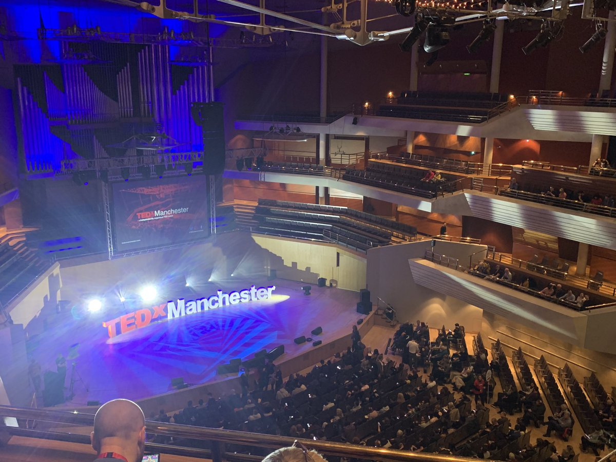 Looking forward to getting inspired with some amazing talks at @TEDxManchester 🙌 thanks to @Bruntwood_UK for the tickets 💜😘#TEDxManchester #getinspired #Manchester #tedx