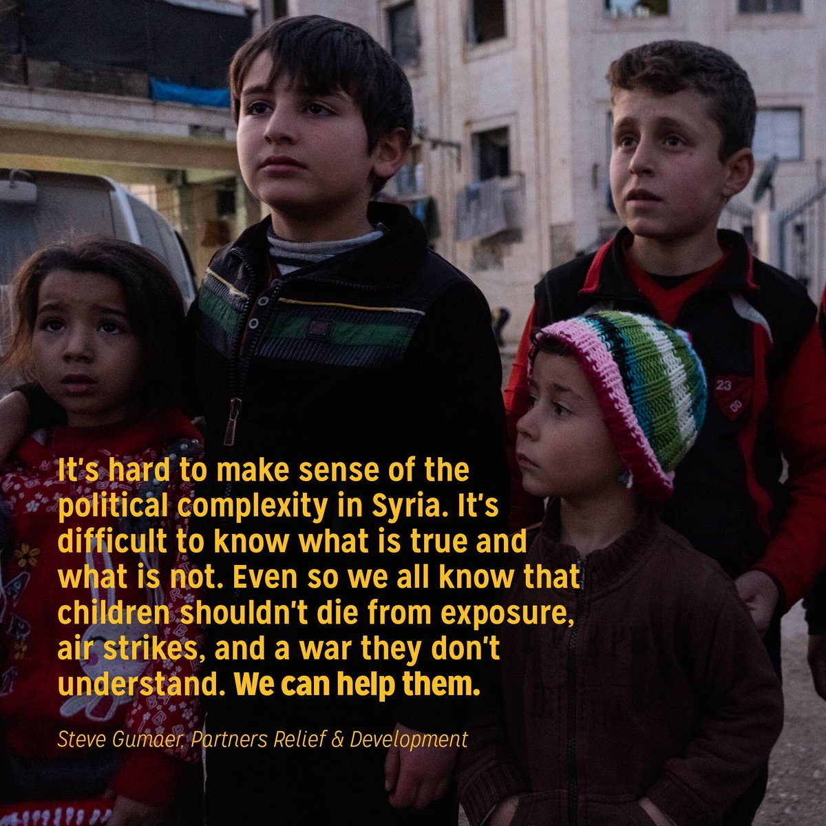 Kids in #Syria shouldn't suffer because the adults are fighting. Stay with us: partners.ngo