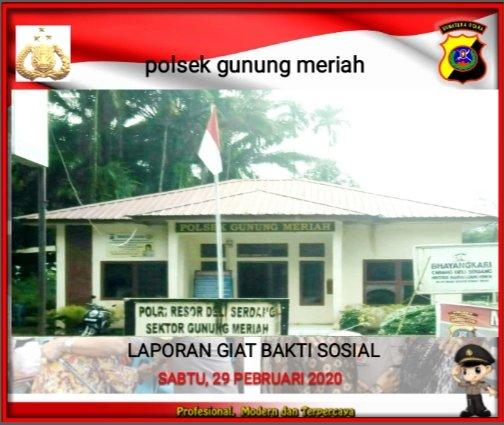 Giat Bakti sosial Sabtu bersih dan Sabtu Berkat Polsek Gunung Meriah Polresta Deli Serdang. Sabtu 29-02-2020. pic.twitter.com/thTMLdhz6Z