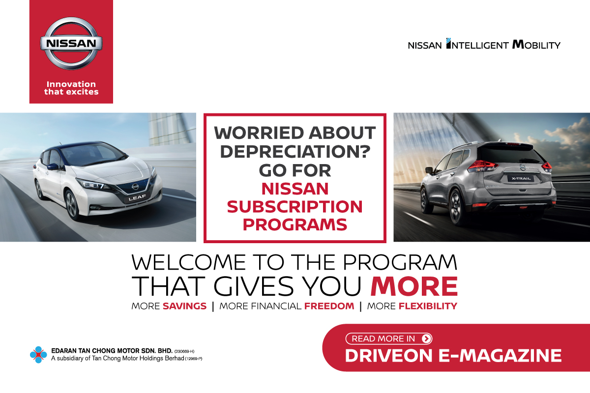 Drive away a new Nissan LEAF or X-Trail Hybrid with only 3 steps through the Nissan Subscription Programs. Read more on the DriveOn e-Magazine now!  Click here to read: https://t.co/4ISaVVx6dZ  #driveon #nissansubscription #nissanmalaysia #nissan #leaf #xtrail #tanchong https://t.co/5zCisrkzz2