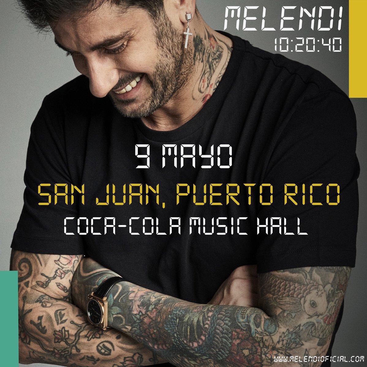 Puerto Rico 🙌🏻, nos vemos el 9 de mayo!!! Entradas disponibles en