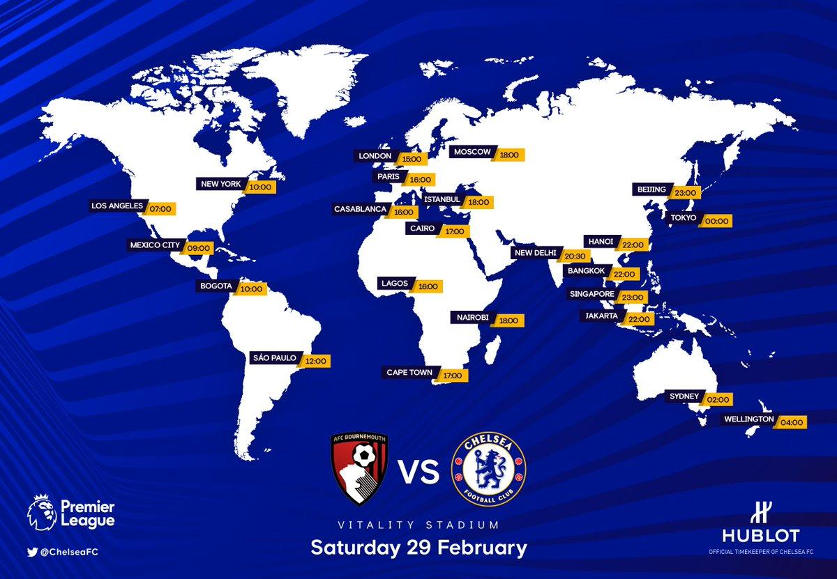 Bournemouth Vs Chelsea Fa Premier League 2019 2020