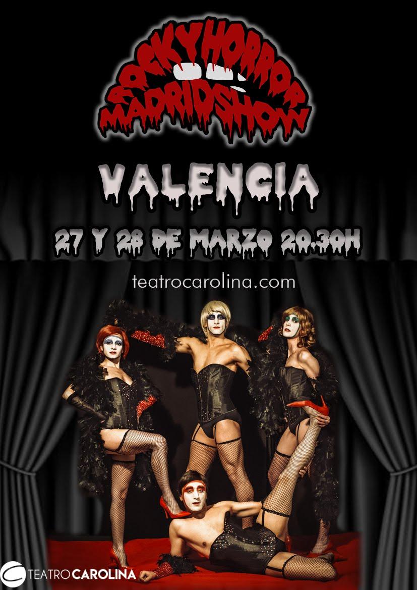 @rhpsmadrid en Valencia, en el @teatrocarolina  El 27 y 28 de marzo. https://www.teatrocarolina.com/rocky-horror-madrid-show/…pic.twitter.com/TlLbYQFNuL