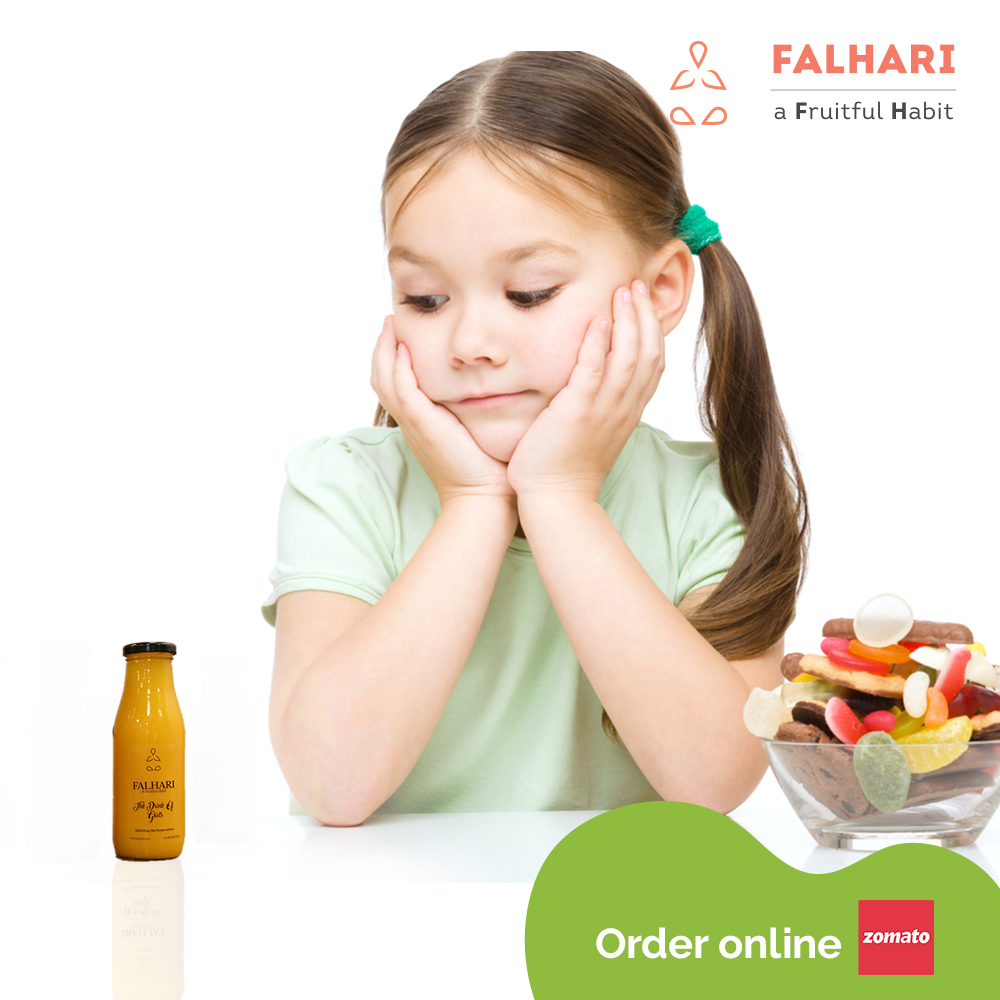 Most children have a sweet tooth and are prone to asking for sugary beverages ! Why not hand them fresh fruit juices and give them a healthy option! Buy yours from Falhari.#Falhari #fruit #fruits #healthy #health #nutrition #healthylifestyle #lifestyle #workout #fitness #sn ...