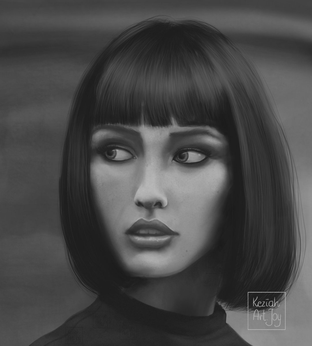 Keziahartjoy On Twitter Second Attempt To Greyscale Painting Greyscale Grayscale Portrait Art Procreate Womanportrait Artist Art Portret Https T Co Ewqztplqbo