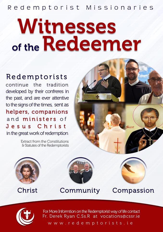Thinking about life as a Redemptorist brother or priest? We would love to hear from you. Details below. #Redemptorists #MissionaryVocation #ThinkAboutItpic.twitter.com/jvdN24remf