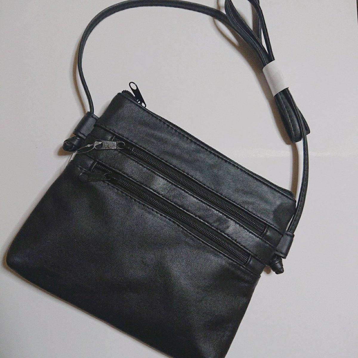 しまむら購入品🦓💓その2900円バッグを手に持ちバッグコーナーをうろうろしてると→てらさん紹介のタポケショルダーが❗👀🖤✨似てるの持ってるし、バッグ持ちすぎだよなぁとすご~く悩んだけどフォロワーさんの着画がかわいすぎたのでそっとカゴに💓😂#しまむら#しまパト